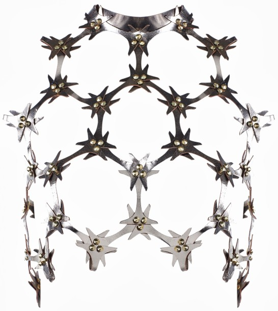 Una Burke Spring 2014 Lace Cutout Bodice