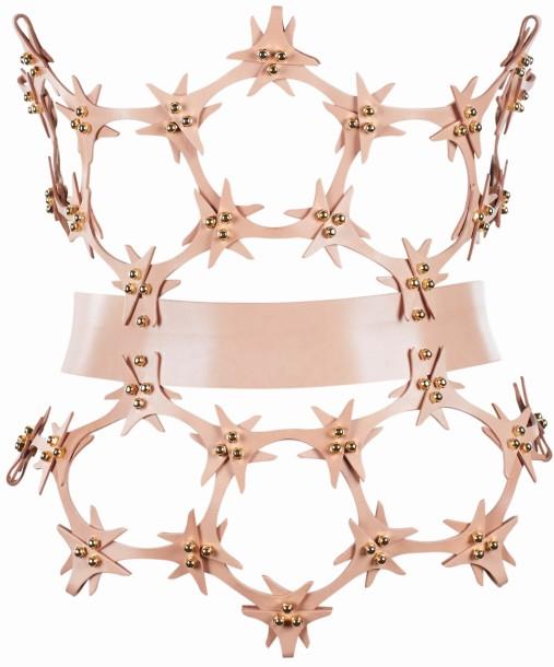 Una Burke Spring 2014 Lace Cutout Hip Corset