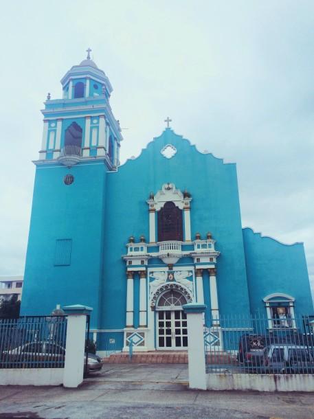 Turquoise Church in Santurce
