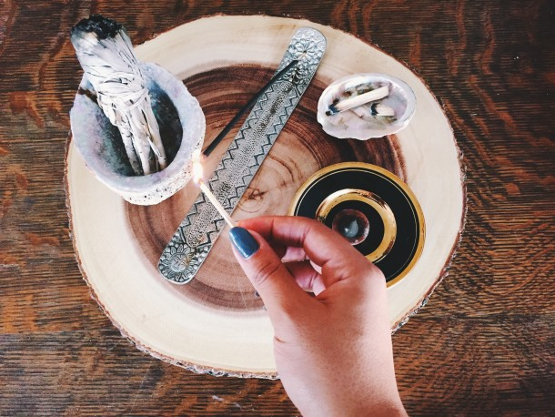 Create an Altar at Home Using Incense, Sage & Palo Santo