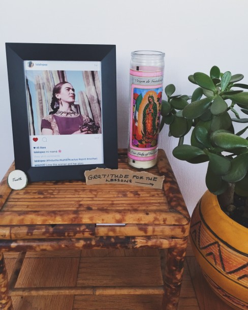 Create an Altar at Home Using Candels, Icons & Affirmations