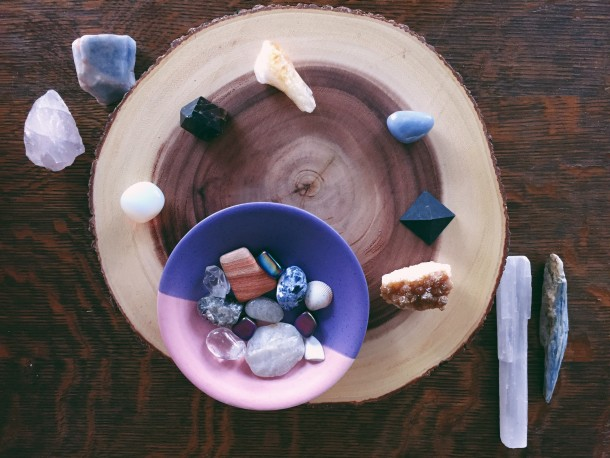 Create an Altar at Home Using Crystals