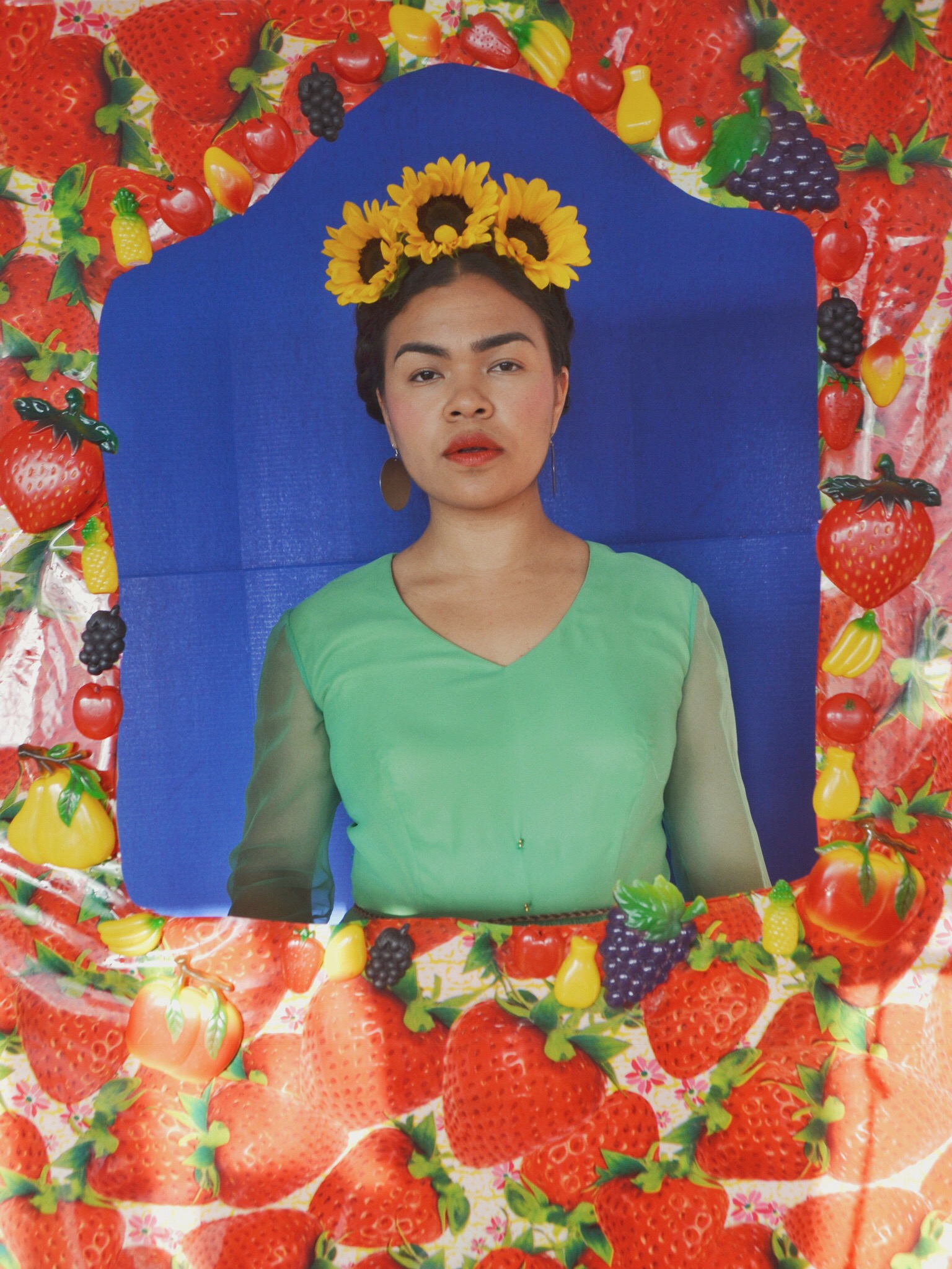 Frida in Frame || Frida Digging Deeper - Self Portrait Series by Lala Lopez