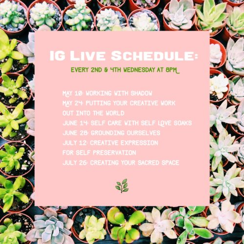 Instagram Live Schedule - Lala Lopez - Spring 2017